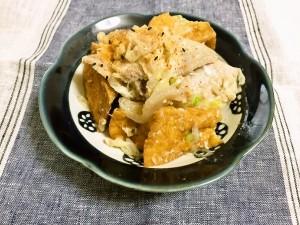 冬めく豚ロースと厚揚げの米こうじ炒め